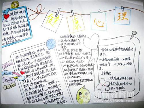 五年级心理健康知识手抄报图片版面设计图